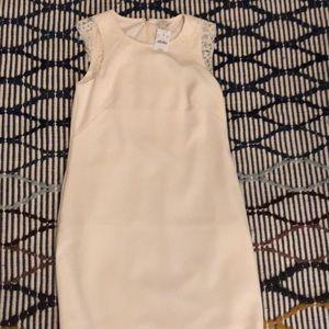J crew lace sheath ivory dress